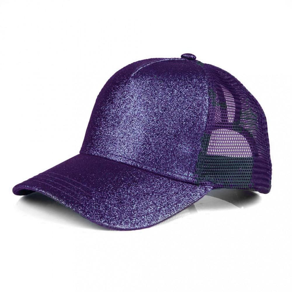 Purple Glitter Pony Cap