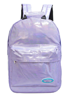 Purple Backpack with Candy Sticker Packs
