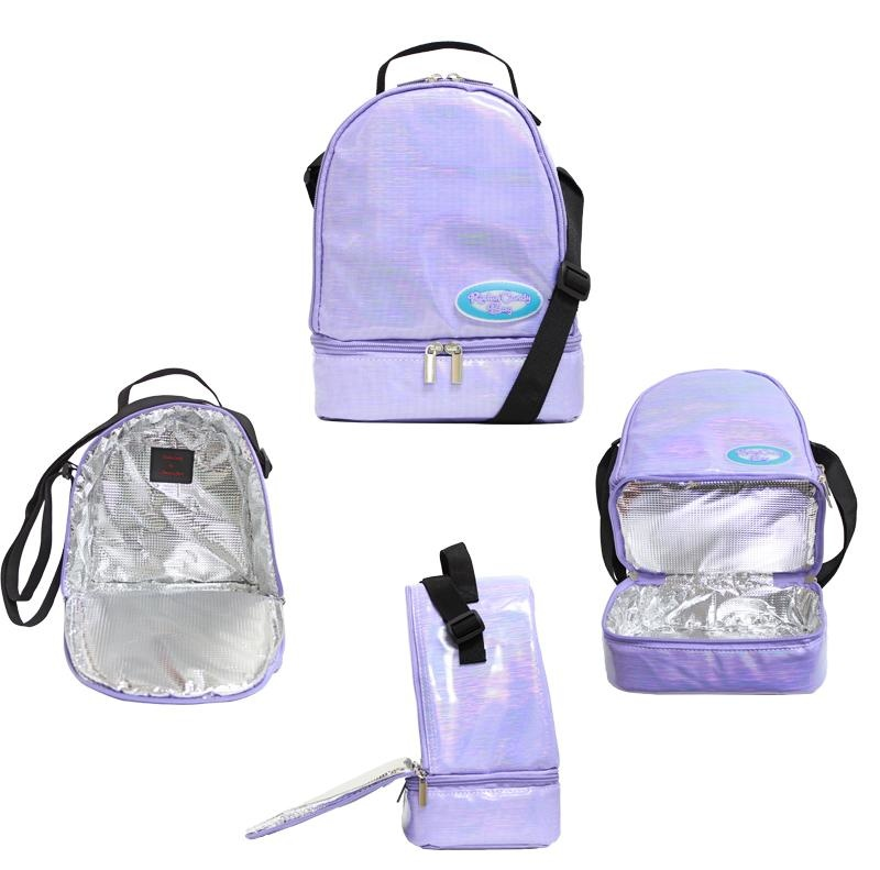 Purple Lunch Kit with Candy Sticker Packs