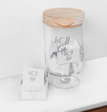 Let it Go Glass Jar
