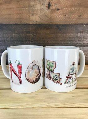 Cajun Alphabet Mug
