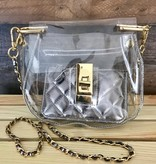 Clear Saddle Bag with Coin Purse