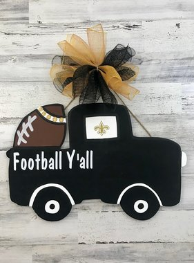 Football Y'all Truck Door Hanger