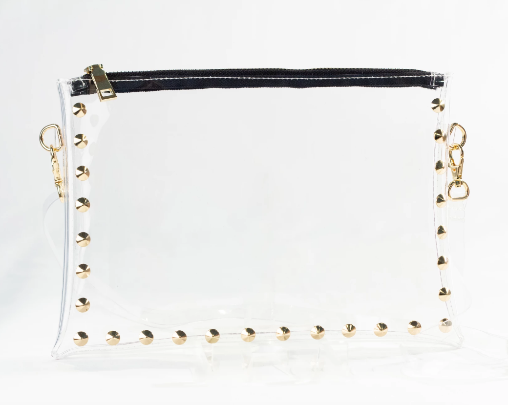 Parker Clear Bag with Gold Snake Strap