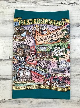 New Orleans Map Tea Towel