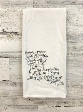 Louisiana Calligraphy Towel