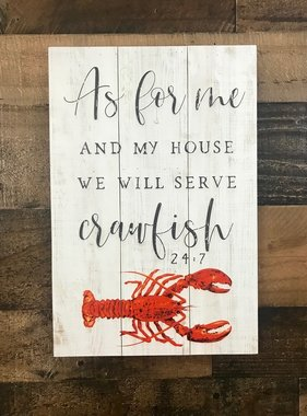 Serving Crawfish Wall Art