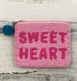 Sweet Heart Beaded Pouch