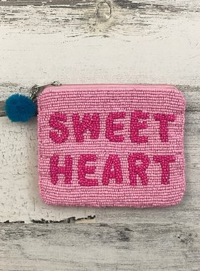 Sweet Heart Beaded Pouch