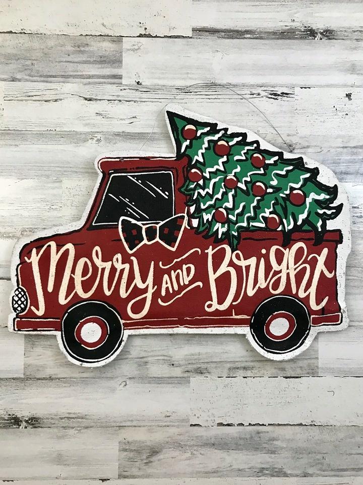 Hello Fall / Merry & Bright Door Hanger