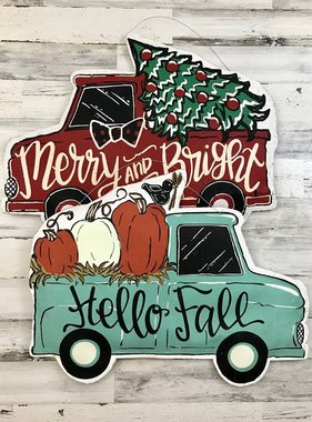 Hello Fall / Merry & Bright Door Hanger