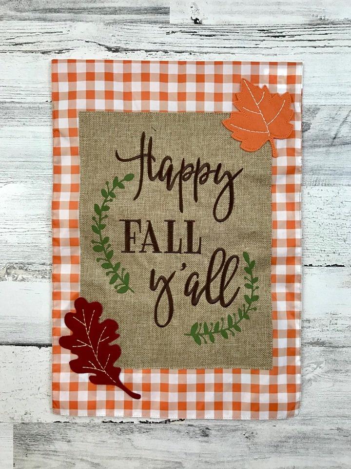 Happy Fall Y'all Garden Flag