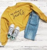 New Orleans Saints Crop Sweatshirt