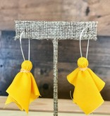 Small Penalty Flag Earrings