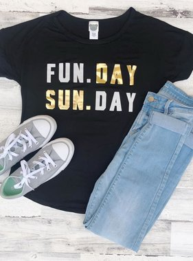 Fun. Day, Sun. Day Tee, Black