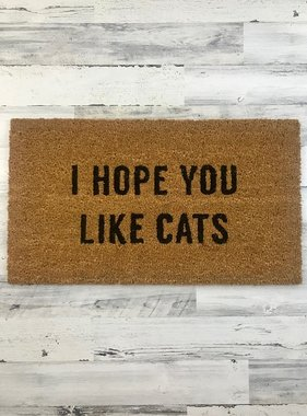 Hope You Like Cats Door Mat