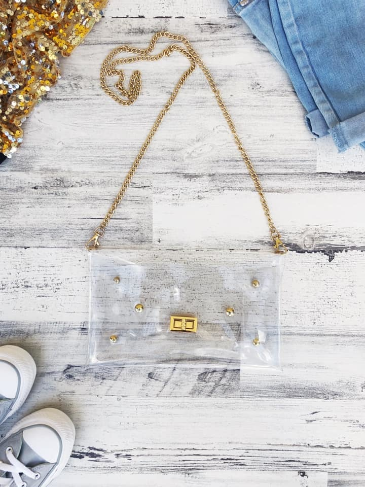 Clear Purse with Clasp