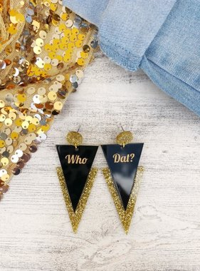 Who Dat Bolts Earrings