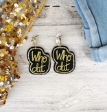 Who Dat Bling Earrings