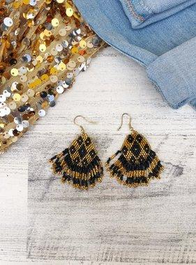 Small Beaded Fringe Earrings