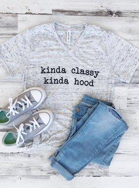 Kinda Classy Kinda Hood Tee, V-Neck