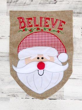 Believe Santa Garden Flag