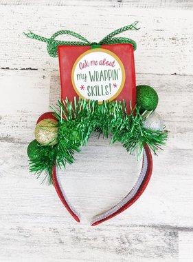 Lit Present Christmas Headband