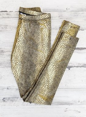 Black & Gold Snake Leggings