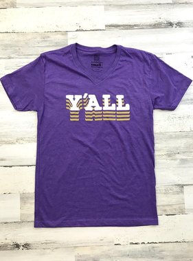Purple & Gold Y'ALL Tee