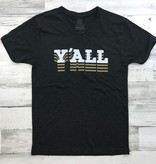 Black & Gold Y'all Tee
