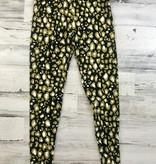 Black & Gold Leopard Leggings