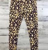 Purple & Gold Leopard Leggings