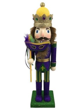 Mardi Gras Nutcracker with Mask