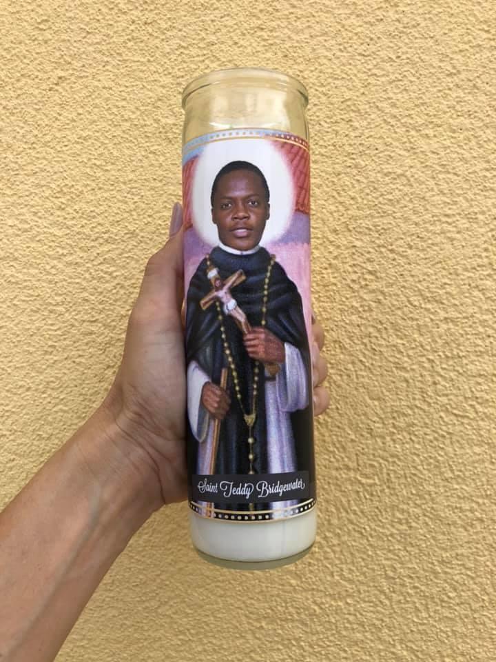 Mose Mary & Me Teddy Bridgewater Saint Candle