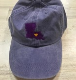 Purple & Gold Louisiana Love Baseball Hat