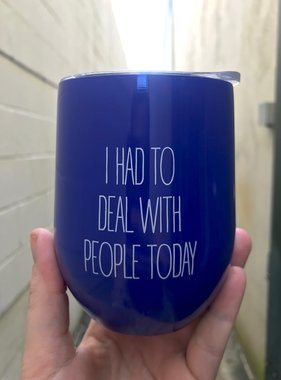 Deal With People Stemless Tumbler