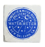 Water Meter Tile Coaster, 6x6