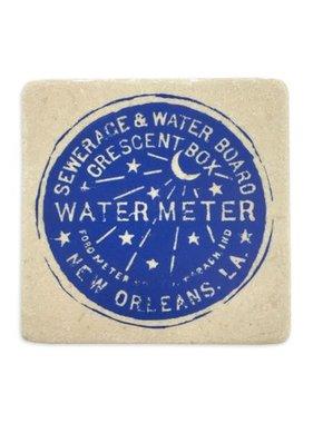 Water Meter Coaster, 4x4