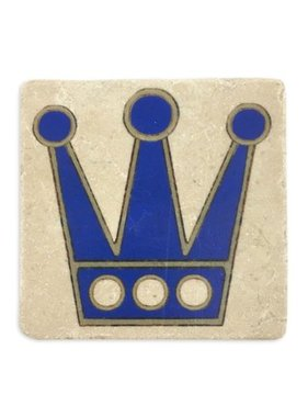 Blue Crown Coaster, 4x4