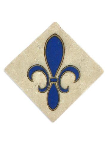 Fleur de Lis Coaster, 6x6