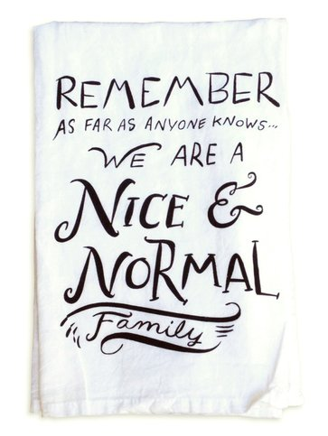 Primitives by Kathy Nice and Normal Family Towel