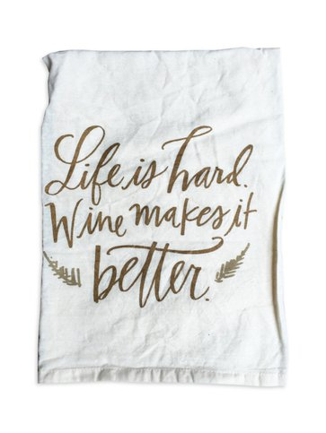 Primitives by Kathy Life Is Hard Towel