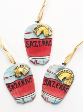 Sazerac Ceramic Ornament