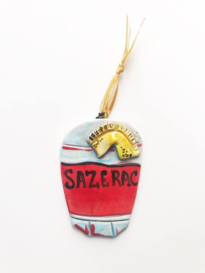 Sazerac Ceramic Ornament