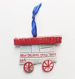 Taffy Cart Ceramic Ornament