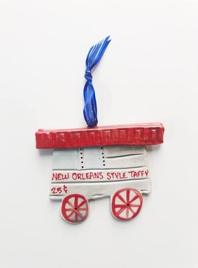Taffy Cart Ceramic Ornament