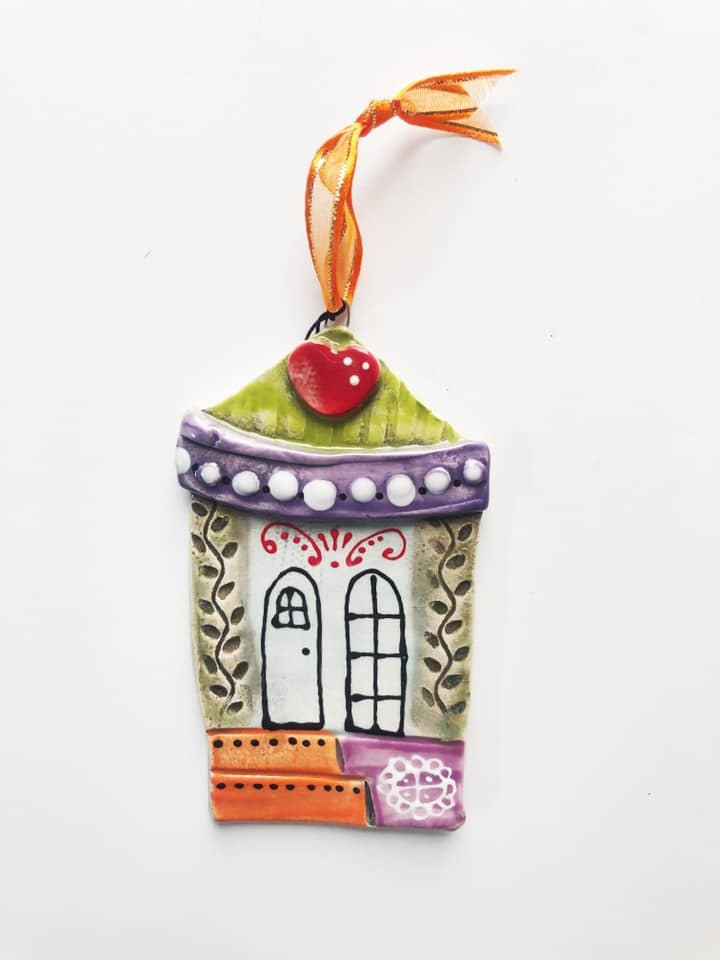Shotgun House Ceramic Ornament