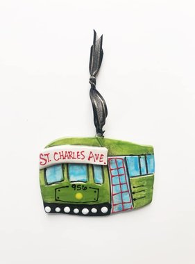 Streetcar Ceramic Ornament