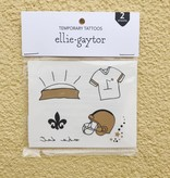 Black & Gold Football Icons Temporary Tattoos