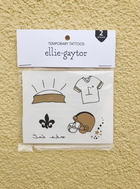 Football Icons Temporary Tattoos